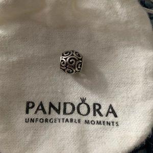 Swirl Pandora charm